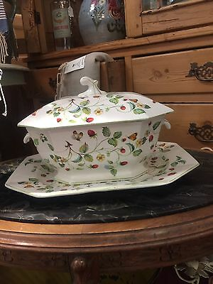 James Kent Old Foley Strawberry Tureen And Underplate