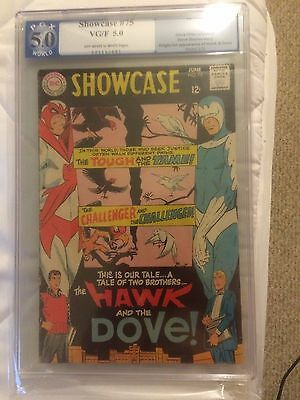 Showcase #75 1st Appearance of Hawk and the Dove PGX 5.0 1968 Silver Age