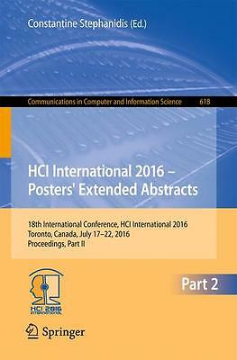 HCI International 2016 - Posters' Extended Abstracts, Constantine Stephanid ...