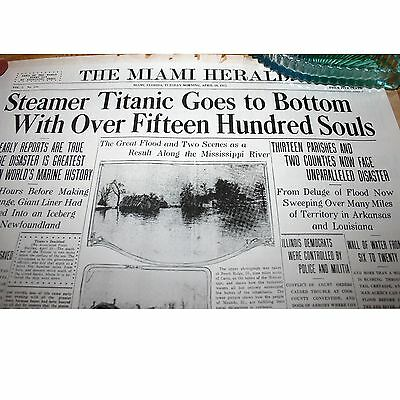 Collection of 12 Reprints from Miami Herald Famous Front Pages Double Sided