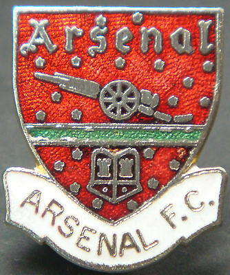 ARSENAL Vintage club crest type badge Maker COFFER N'ton Brooch pin 23mm x 27mm