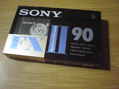 SONY FX II 90 Cassette Audio NEW Sealed Blank Vintage Tape NUOVA SIGILLATA RARA