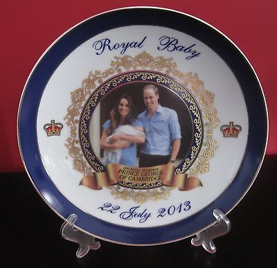 Birth of Prince George Plate with Family Portrait
