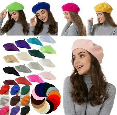 Plain Beret Hat Wool Autumn Women | Girls Fashion Hats French Beret Winter UK