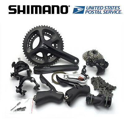 Shimano 105 5800 Road 2x11-speed 53/39T Full Groupset Group Black 172.5mm