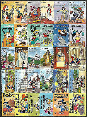 WALT DISNEY CARTOON - 30 Different Stamps **MNH** (Lot 2) + FREE SHIPPING !!!
