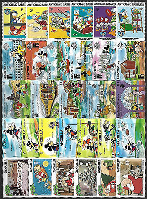 WALT DISNEY CARTOON - 30 Different Stamps **MNH** (Lot 4) + FREE SHIPPING !!!