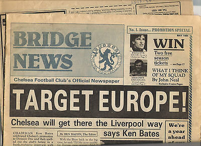 May 1984-----FIRST ISSUE EVER---Chelsea FC's Official Newspaper