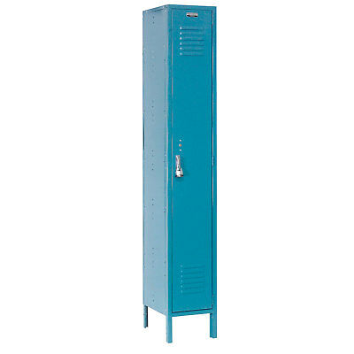 Single Tier Locker, 12x18x72 1 Door, RTA, Blue, Lot of 1