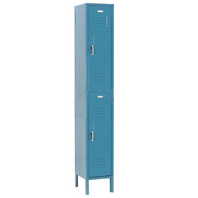 Double Tier Locker, 12x18x36 2 Door, RTA, Blue, Lot of 1