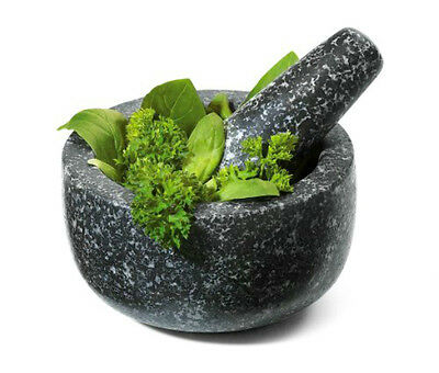 "Mortar And Pestle New Fresco  4.75""  Premium Quality Non Porous Granite"