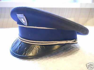 OBSOLETE French Police VISOR Cap with METAL CAP Badge