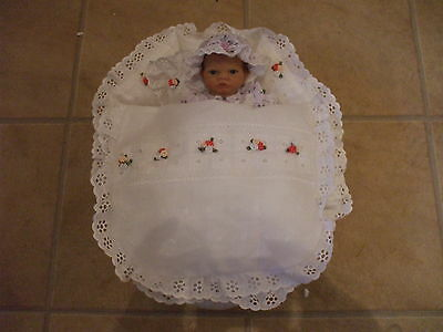 "10"" Reborn Crib White  Fit Baby Emmy Ashton Drake Or Similar Size"