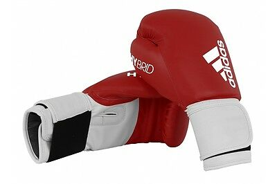 Adidas Hybrid 100 Boxing Gloves Red Sparring 8 10 12 14 16 oz Kickboxing