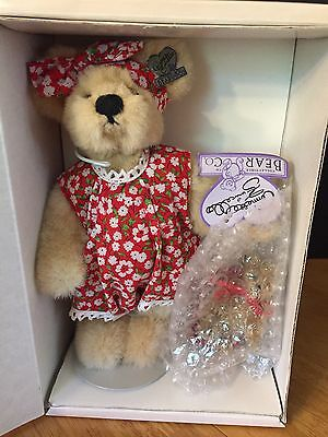 "Marci & Me Too, Annette Funicello Cute 8.5"" and 3"" Bear Set with Wagon, NRFB"