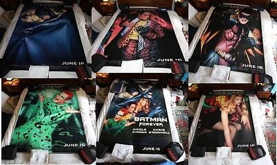 Very RARE Batman Forever 1995 Original Bus Shelter Movie Posters Set of 6 + 1