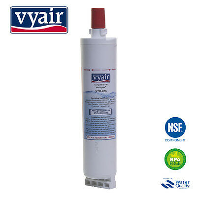 VYAIR 481281729632 Ice & Water Filter for Whirlpool SBS002 Refrigerator x 1