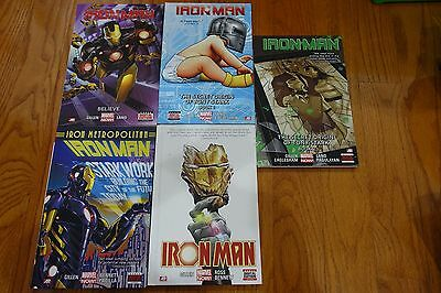 Iron Man Hardcover Lot Volumes 1 2 3 4 5 Marvel Now Bundle Graphic Novel TPB Set