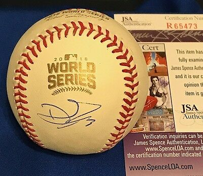 DAVID ROSS Autographed 2016 Official World Series Baseball JSA Authentic