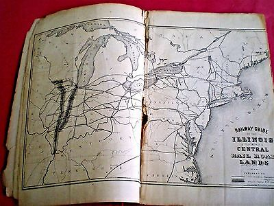 Rare 1858 Illinois Central Promo: 1,500,000 Acres For Sale ~ Farming & Woodlands