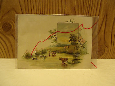 1890s Antique LION COFFEE Advertising Trade Picture Card Woolson Spice Toledo,Oh