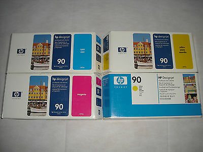 Original Genuine Set Hp #90 Printhead Designjet 4000 C5055A C5056A C5057A Sealed