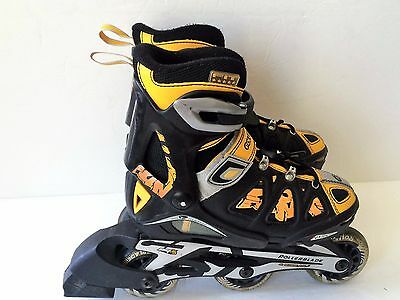 Youth jr childs adjustable size 12 13 1 2 Rollerblade inline skates Combo 8.0