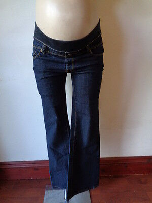 New Look Yes Yes Maternity Blue Under Bump Bootcut Jeans Size 8