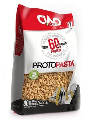 Low Carb Proto Pasta Tubetti 300 g, High Protein, Low Fat, Dukan Diet, Atkins