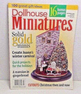 Dollhouse Miniatures Magazines Christmas Holiday Projects