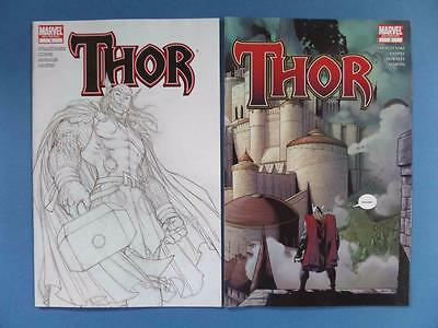 Thor 1 3Rd Print Sketch Cover Scarce! + 2 2Nd Print