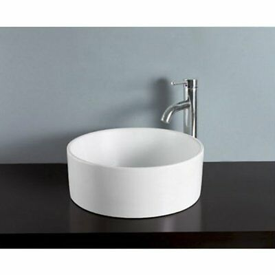 Kingston Brass Park White China Vessel Bathroom Sink without Overflow