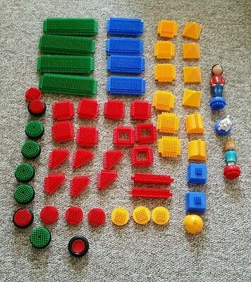 Starter bundle joblot of Pre-School Sticklebricks Stickle Bricks 58 pieces