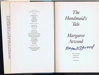 MARGARET ATWOOD SIGNED THE HANDMAID'S TALE - U.S. 1st Edition / with ExactProof