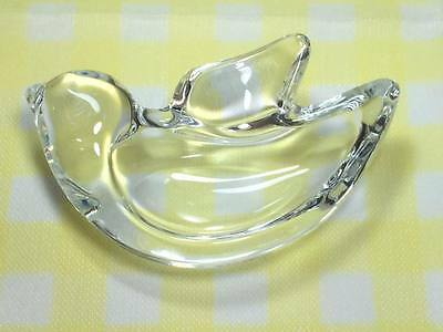 Art Vannes  crystal dove pin dish made in France