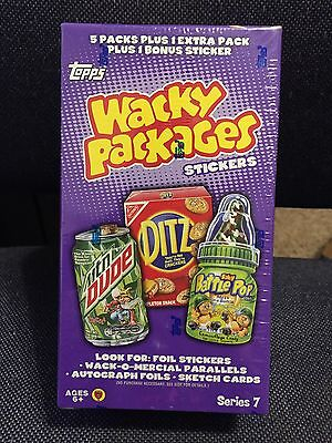Topps WACKY PACKAGES STICKERS Series Seven Sealed Box 2010