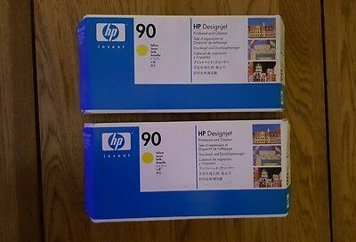 GENUINE HP Designjet Printhead and Cleaner 90 Yellow, C5057A ( Sold as singles)