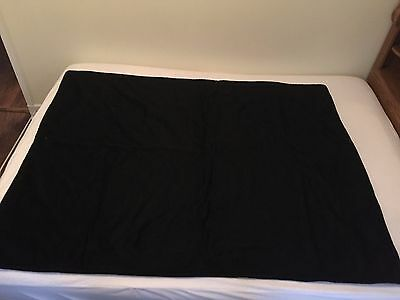 "Antique Horse Hair Carriage Buggy Lap Robe Winter Blanket 65"" X 51"""