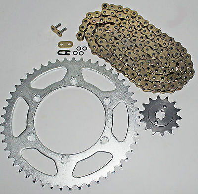 2005-2014 Yamaha Tt-R230 230 Gold O Ring Chain And Sprocket 12/52 112L