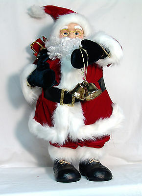 """Large Old Timey Santa Clause Figurine Decoration NIB - Stands 30"""" Tall"""