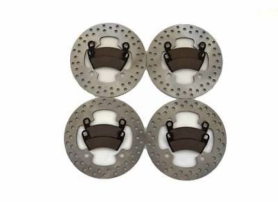 2014 Polaris RZR 4 900 LE EPS Front and Rear Brake Rotor Discs and Brake Pads
