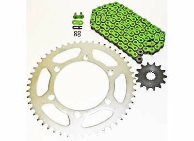 1999-2014 Yamaha Yz250 Yz 250 Green O Ring Chain And Sprocket 15/52 120L