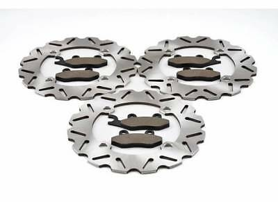 2011-2017 Can-Am Commander 800R XT Front & Rear Sport Brake Rotors &  Brake Pads