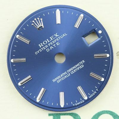Rolex Oyster Perpetual Date 100% Authentic Blue w Stick Dial Only for 26mm Watch