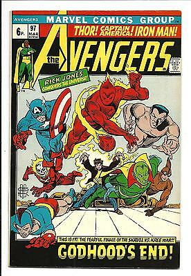 Avengers # 97 (End Of Kree/skrull War, Mar 1972), Vf