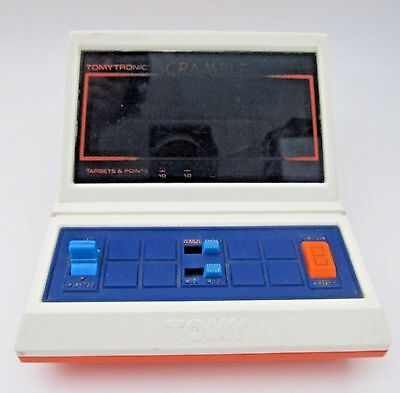 Tomy Scramble Electronic Vintage Handheld Game Works Tomytronic with AC Adapter
