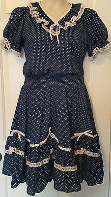 Square Dance Outfit Malco Modes Rockabilly Skirt Blouse Size small