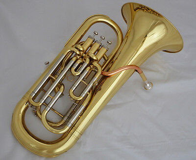 Professional Gold 3+1 Valves Valve Euphonium Compensating System horn With case