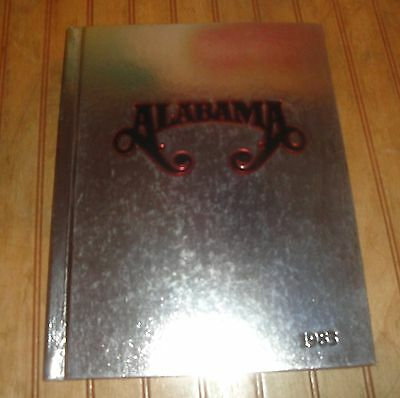 ALABAMA 1983 Country Band RCA RECORDS Silver Hardcover Book Photo Bumper Sticker