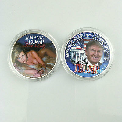 MELANIA TRUMP USA First Lady Commemorative Coin Campaign Collection Modern New